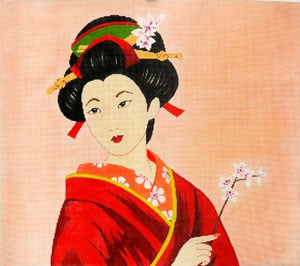 click here to view larger image of Geisha of Beauty (hand painted canvases)
