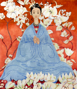 click here to view larger image of Asian Blue (hand painted canvases)