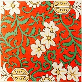 click here to view larger image of Coral Floral (hand painted canvases)