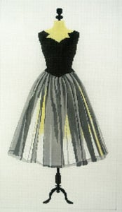 click here to view larger image of Party Dress - Black (hand painted canvases)