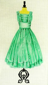 click here to view larger image of Party Dress - Mint Green (hand painted canvases)