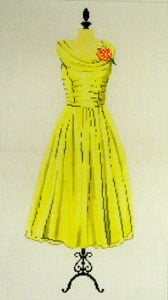 click here to view larger image of Party Dress - Yellow (hand painted canvases)