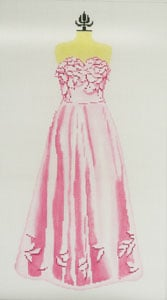 click here to view larger image of Evening Gown - Pink (hand painted canvases)