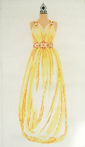click here to view larger image of Evening Gown - Yellow (hand painted canvases)