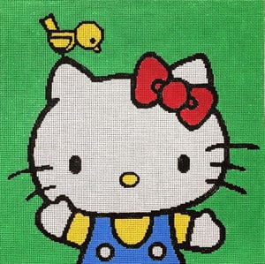 click here to view larger image of Happy Kitty (hand painted canvases)