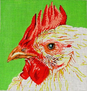 click here to view larger image of Chicken (hand painted canvases)