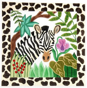 click here to view larger image of Jungle Stripes - Zebra (hand painted canvases)