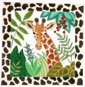 click here to view larger image of Jungle Stretch - Giraffe (hand painted canvases)