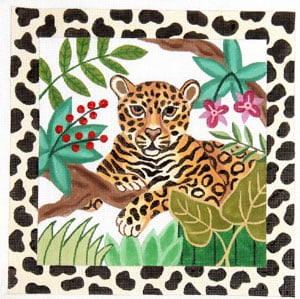 click here to view larger image of Jungle Watch - Leopard (hand painted canvases)