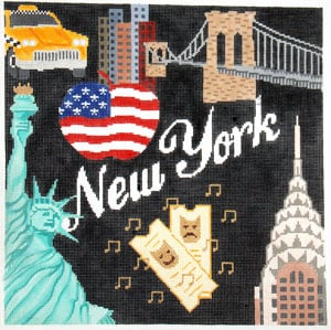 click here to view larger image of New York, New York (hand painted canvases)