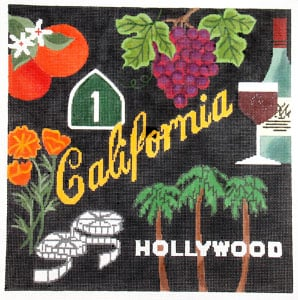click here to view larger image of California Dreaming (hand painted canvases)