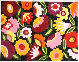 click here to view larger image of Bloomers Black Background - Large (hand painted canvases)