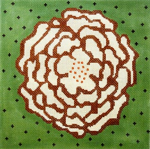 click here to view larger image of Cream Camellia (hand painted canvases)