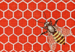click here to view larger image of Queen of the Hive (hand painted canvases)