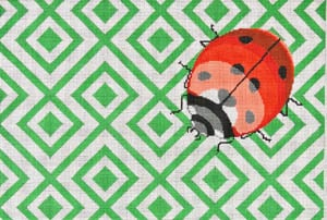 click here to view larger image of Fly Away Home (Ladybug) (hand painted canvases)