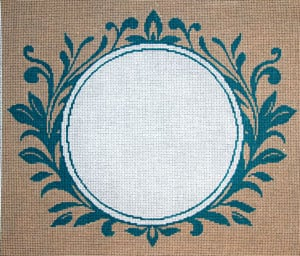 click here to view larger image of Monogram - Fancy Vine (hand painted canvases)