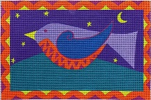 click here to view larger image of Night in Gale (hand painted canvases)