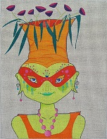 click here to view larger image of Martian Masquerade - Pothead (hand painted canvases)