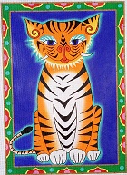 click here to view larger image of Tiger Tiger - 18 Count (hand painted canvases)