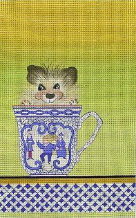 click here to view larger image of Porcupine in a Tea Cup (hand painted canvases)