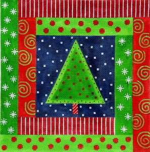 click here to view larger image of Wrapped around the Christmas Tree (hand painted canvases)