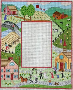 click here to view larger image of Spring - Primitive Farm Scene (hand painted canvases)