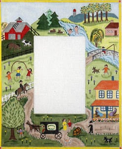 click here to view larger image of Summer - Primitive Farm Scene (hand painted canvases)