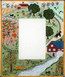 click here to view larger image of Fall - Primitive Farm Scene (hand painted canvases)