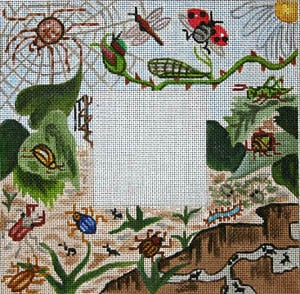 click here to view larger image of Woodland Insects (hand painted canvases)