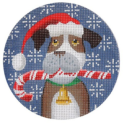 click here to view larger image of Boxer Xmas Circle (hand painted canvases)