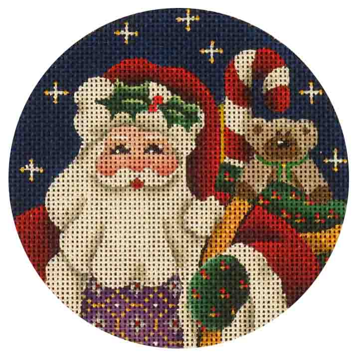 click here to view larger image of Yule Tide Santa (hand painted canvases)