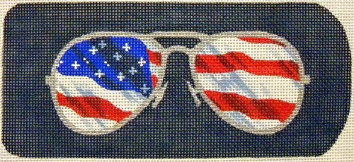 click here to view larger image of Eyeglasses Case Flag Aviators (hand painted canvases)