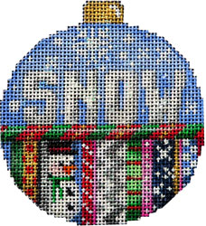 click here to view larger image of Snow Ball Ornament (hand painted canvases)