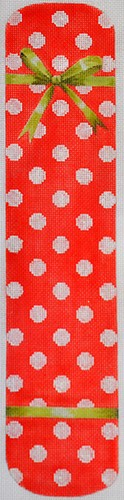 click here to view larger image of Polka Dot & Bow Eyeglass Case Red (hand painted canvases)