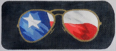 click here to view larger image of Eyeglass Case Texas Aviators (hand painted canvases)