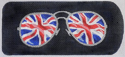 click here to view larger image of Eyeglass Case Union Jack Aviators (hand painted canvases)