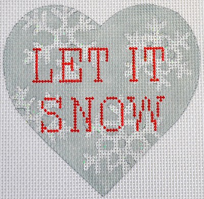 click here to view larger image of Let It Snow Heart (hand painted canvases)