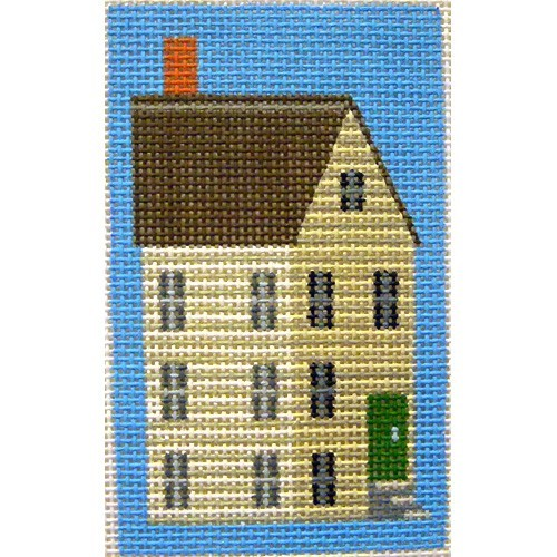 click here to view larger image of White Shaker House Key Fob (hand painted canvases)