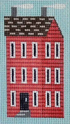 click here to view larger image of Red Shaker House Key Fob (hand painted canvases)