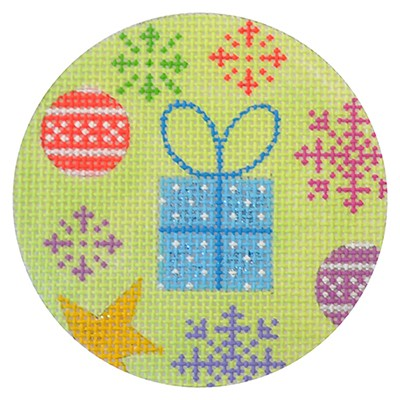 click here to view larger image of Present Christmas Round (hand painted canvases)