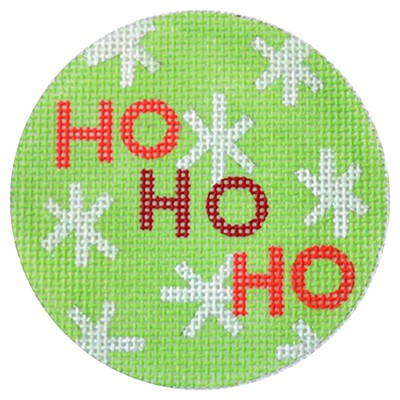 click here to view larger image of Ho Ho Ho Christmas Circle Green (hand painted canvases)