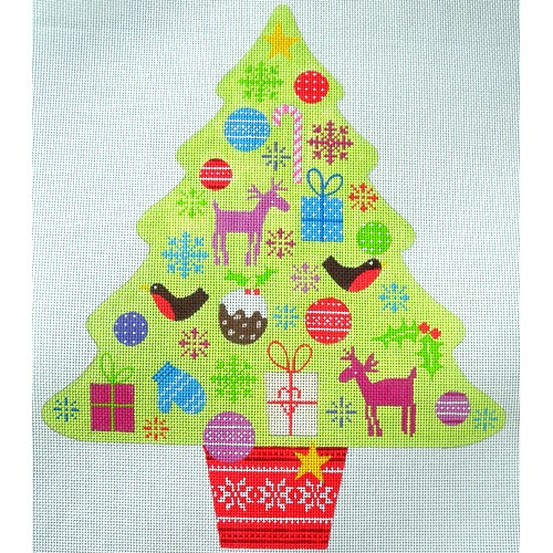 click here to view larger image of Christmas Tree Stand-Up (hand painted canvases)