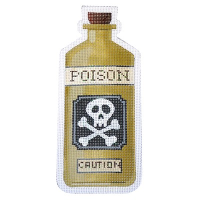 click here to view larger image of Poison Halloween Bottle - 18 Count (hand painted canvases)