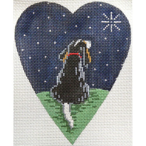 click here to view larger image of King Charles Spaniel Midnight Heart (hand painted canvases)