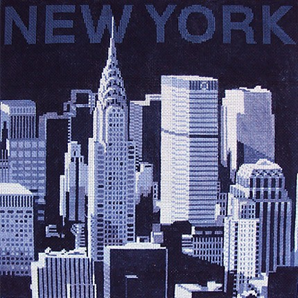 click here to view larger image of New York Skyline (hand painted canvases)