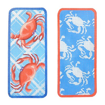 click here to view larger image of Two Blue Crabs Eyeglasses Case (hand painted canvases)