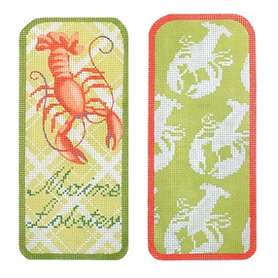 click here to view larger image of Maine Lobster Eyeglasses Case (hand painted canvases)