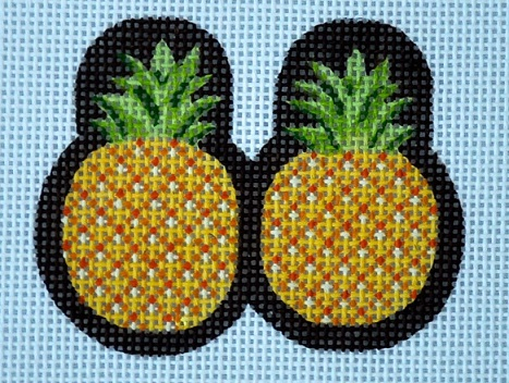 click here to view larger image of Pineapple Scissor Finder (hand painted canvases)