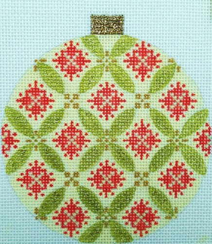 click here to view larger image of Florentine Bauble - Green (hand painted canvases)