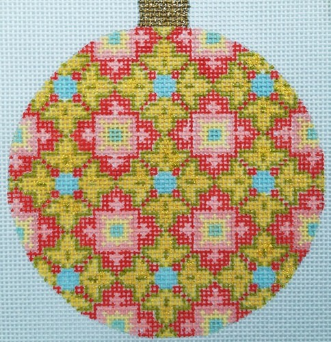 click here to view larger image of Florentine Bauble - Gold (hand painted canvases)